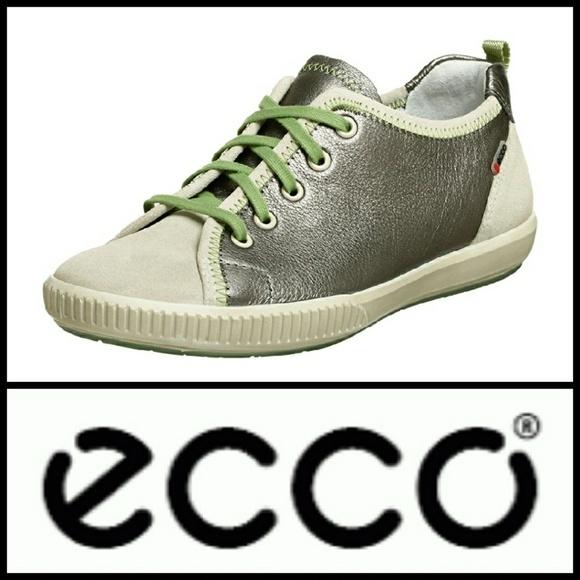 f13bae0f6f67 ECCO Summer Zone Tie White  Buffed Silver